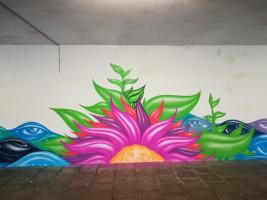 Kunstprojekt Unterführung an der Lasallestraße